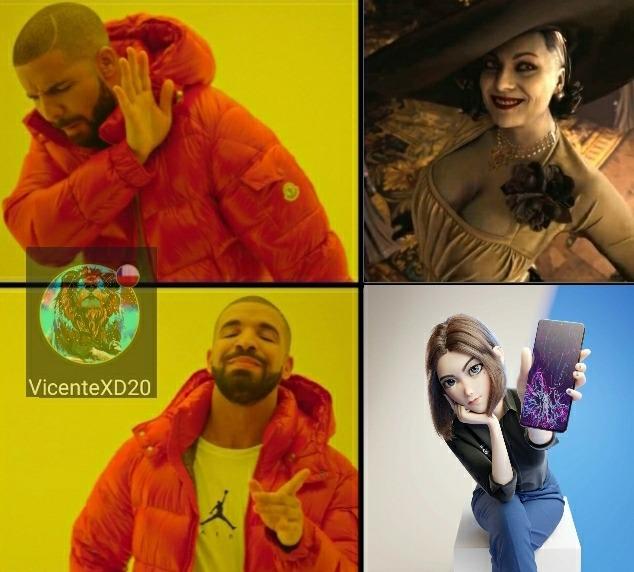 Lady dimitrescu vs sam - meme