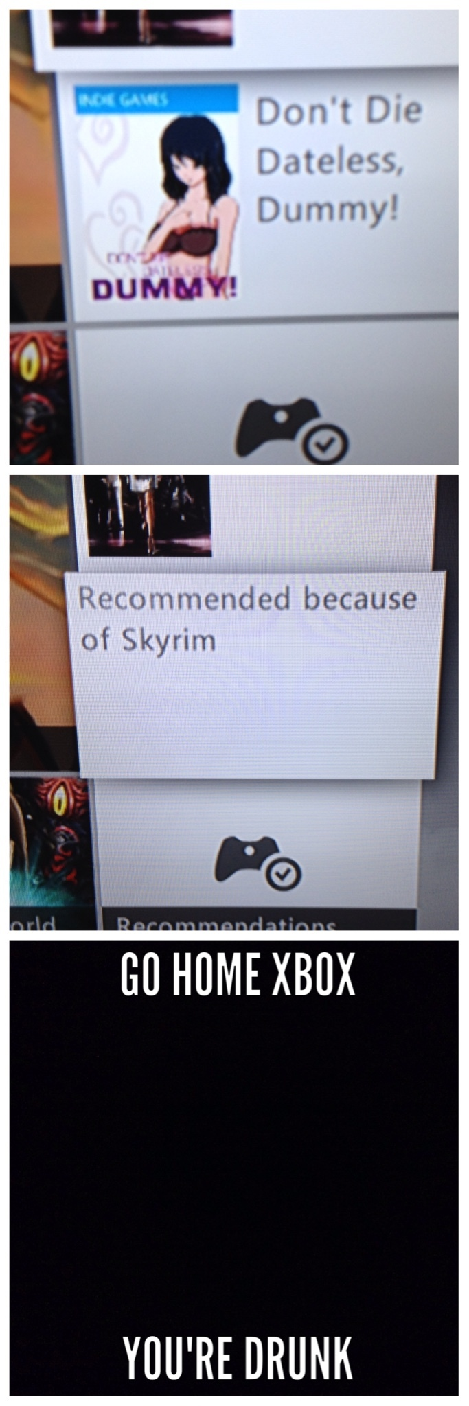 well, skyrim is pretty sexy, I can see he resemblance. - meme