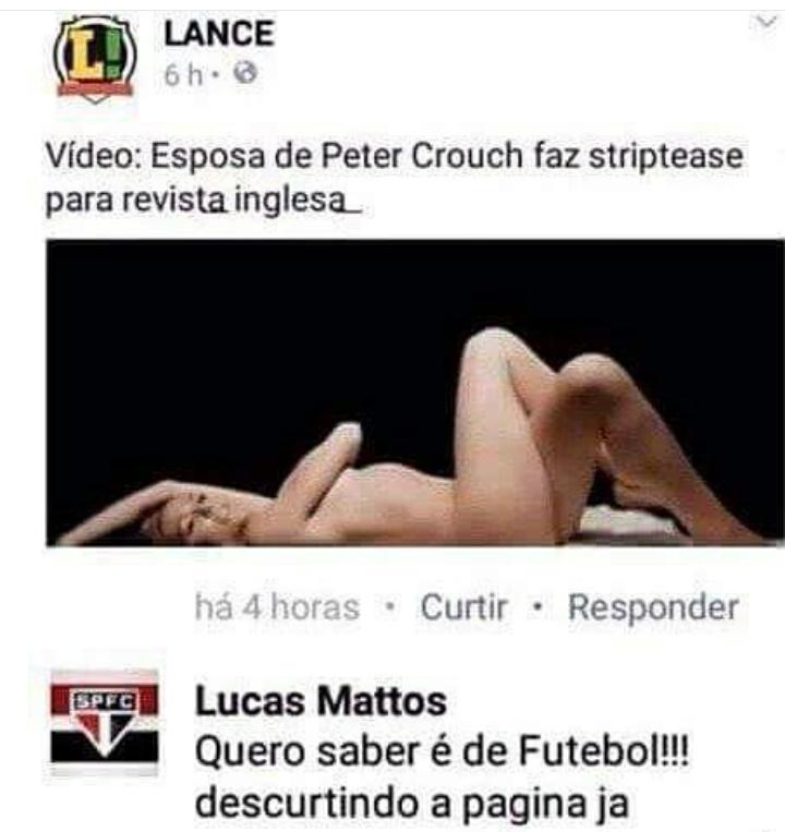 Não tô falando nada do São Paulo, e sim do comentário - meme