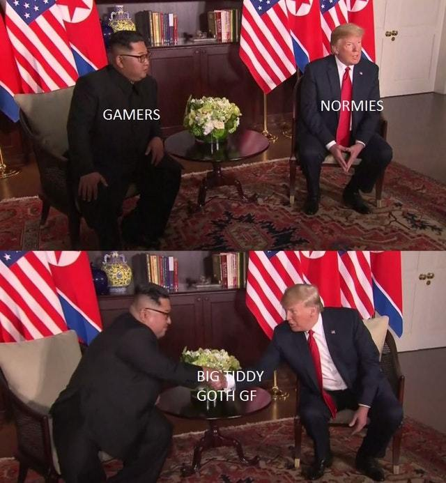 Gamers vs normies - meme