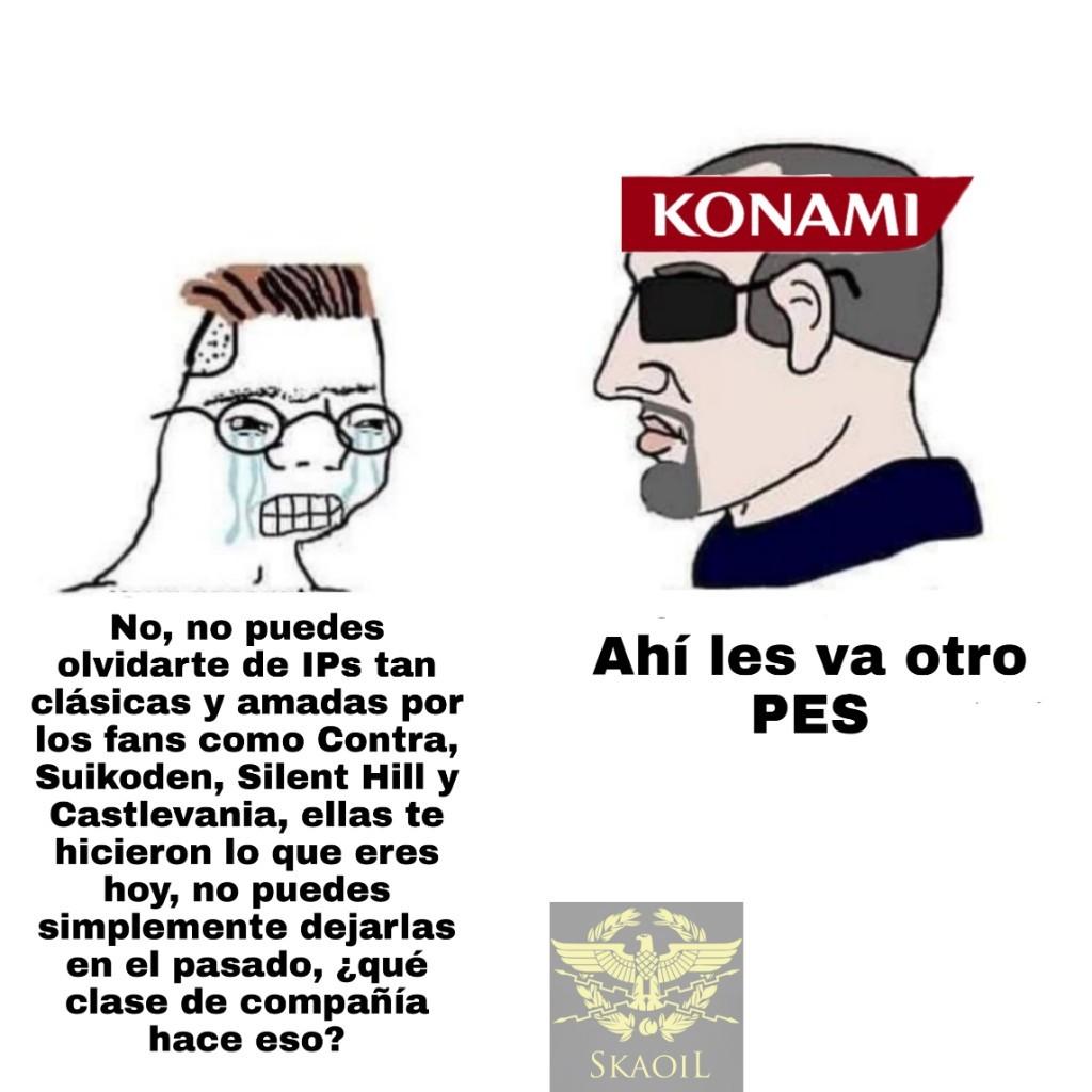 Maldito Konami, yo quiero otro juego de Bomberman - meme