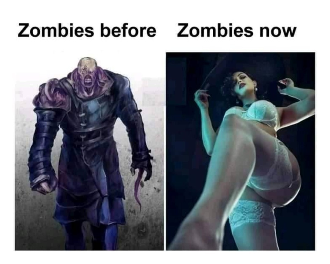 Décadence de la société même chez les zombies - meme