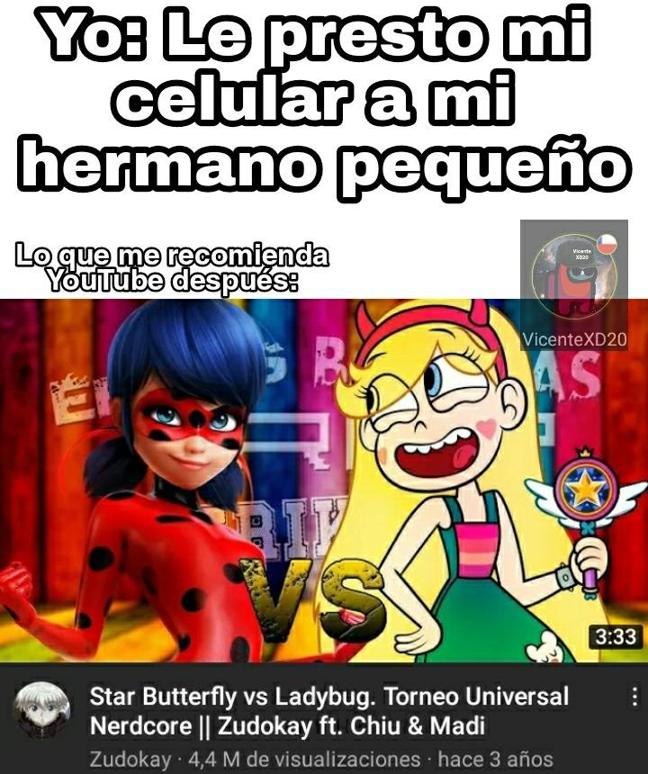 Ladybug vs star - meme