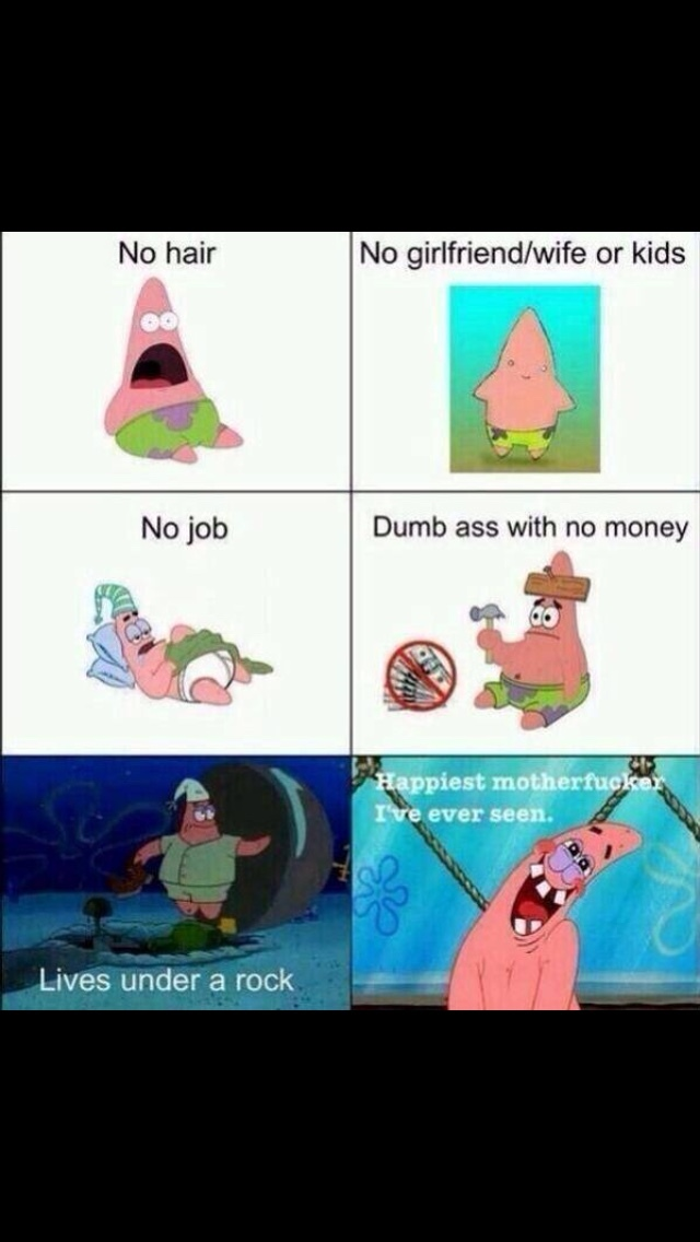 Patrick is living his life to the Fullest o.o - meme