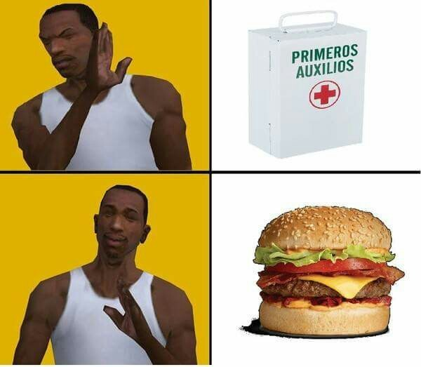 Buenas son las hamburguesas - meme