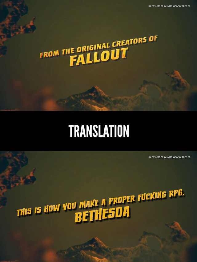 this is how you make a proper fucking rpg, Bethesda - meme