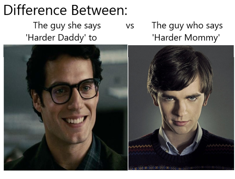 Superman vs Norman Bates - meme