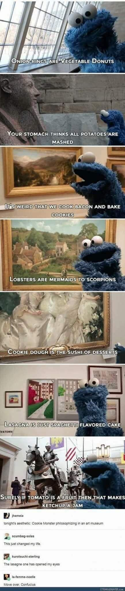 Cookie monster understands it all... - meme