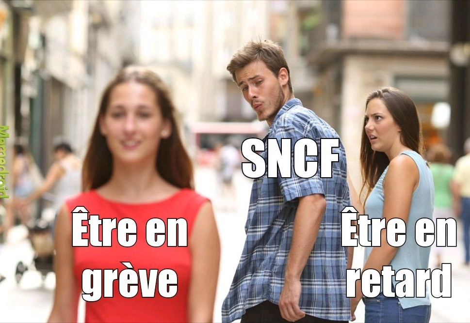 La sncf en temps normal - meme