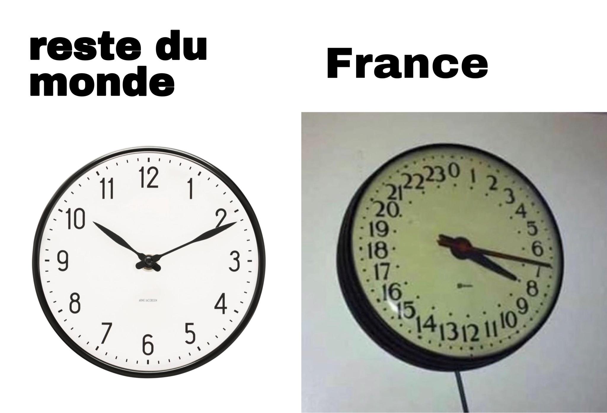 plus informatif que drole : la fr est l'un des seul pays a dire13h, 14h, 15h (je crois) - meme