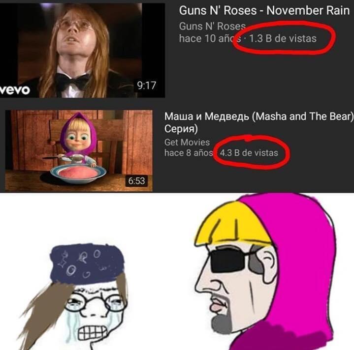 Gun N' Roses vs Masha - meme