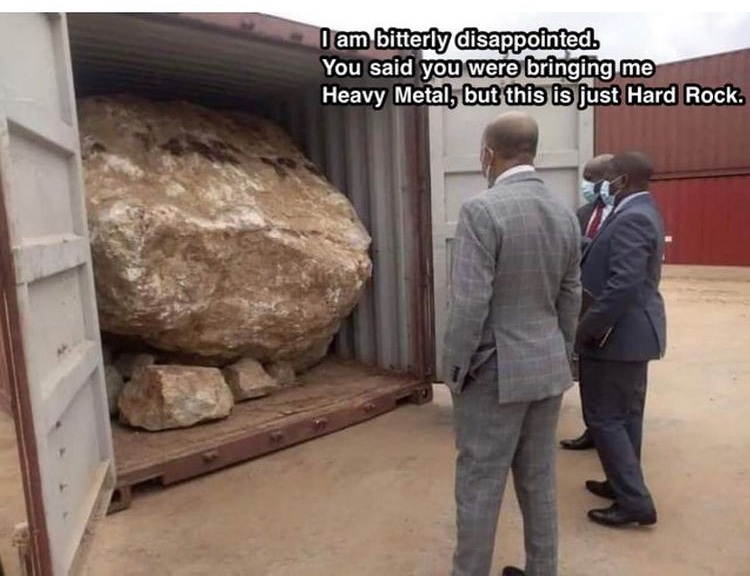 ah yes my rock is here - meme