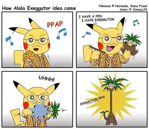 Pen Pineapple Apple Pen :v - meme