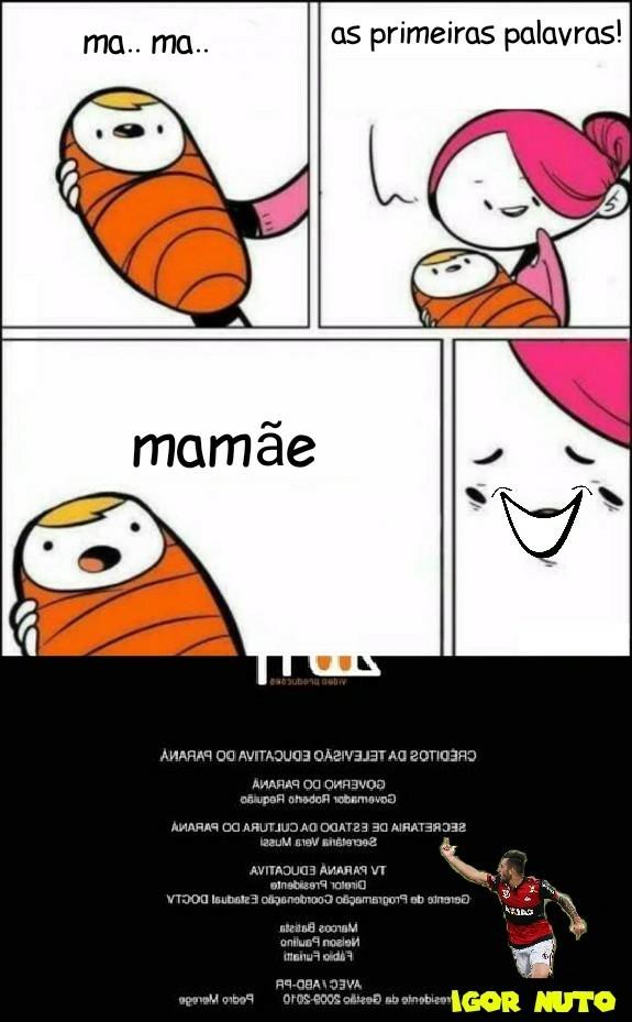 O título ta enfiando o pau na guela do bebê - meme