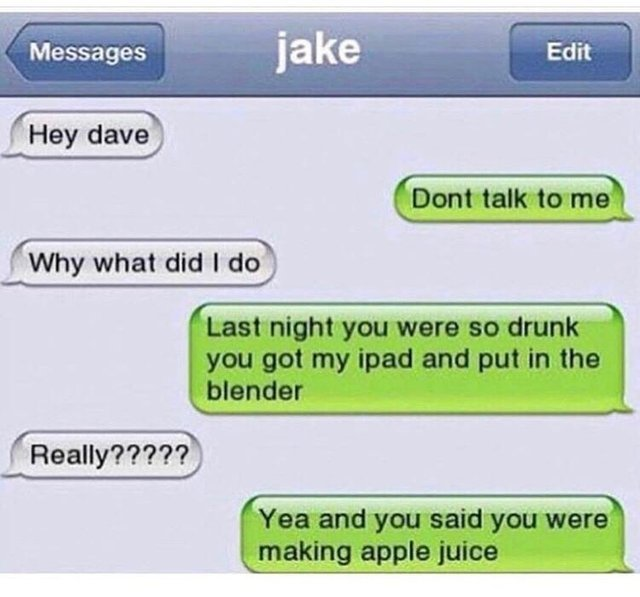 How to make the perfect apple juice - meme