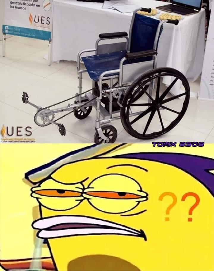 Para los discapacitafos que quieren hacer ejercicio :genious: - meme