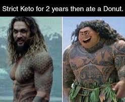 Keto diets before and after - meme