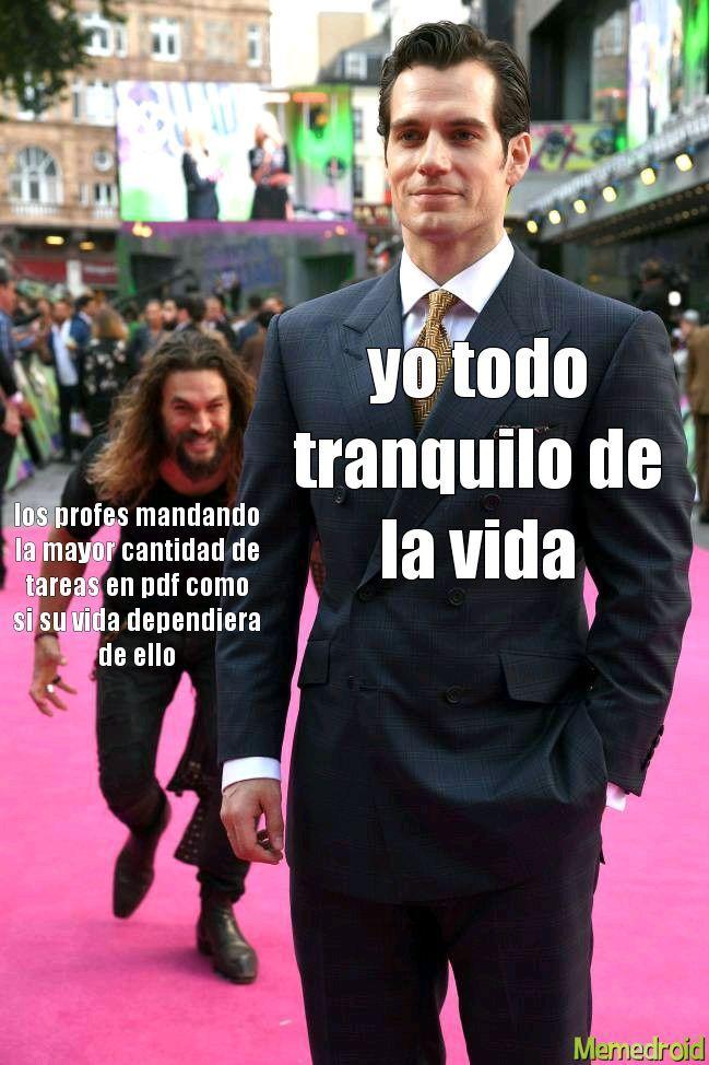 triste cuarentena - meme