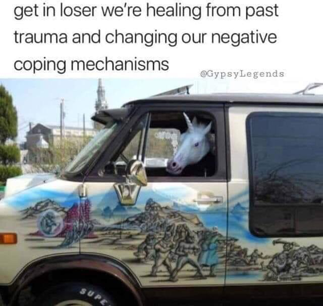 Toot toot here comes the healing bus. - meme