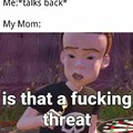Is that a fucking threat?