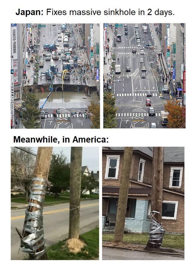 Americans do weird things - meme