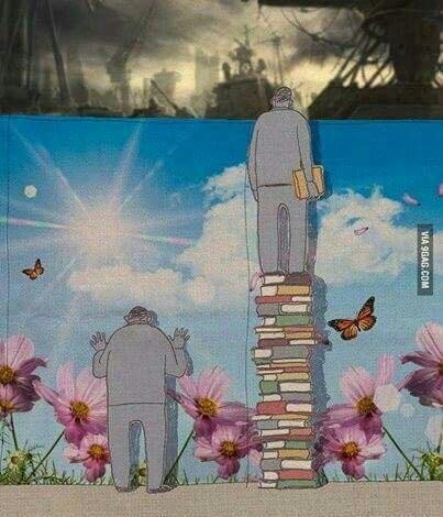 Plus tu apprends, plus tu réalise. - meme