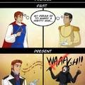 Thanos has become a new Disney's prince ?
