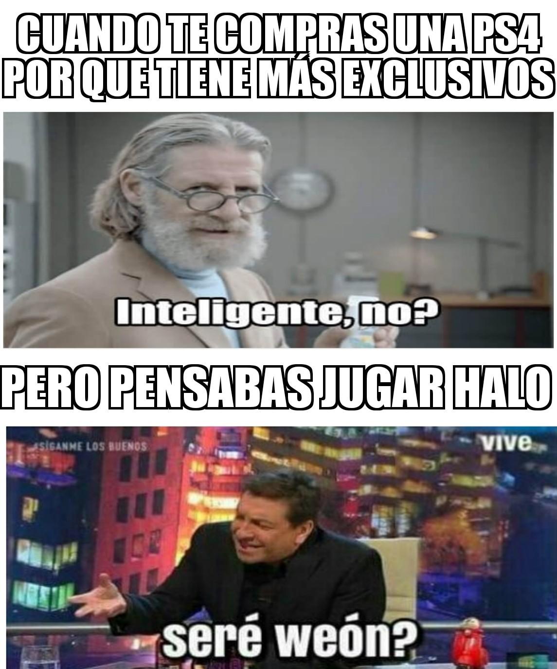 Halo, exclusivo de xbox Juan - meme