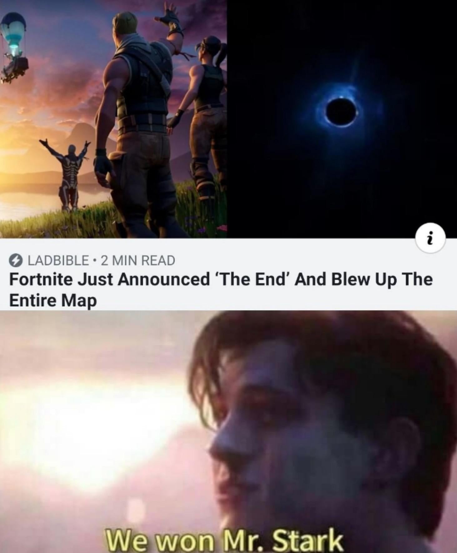We won - meme