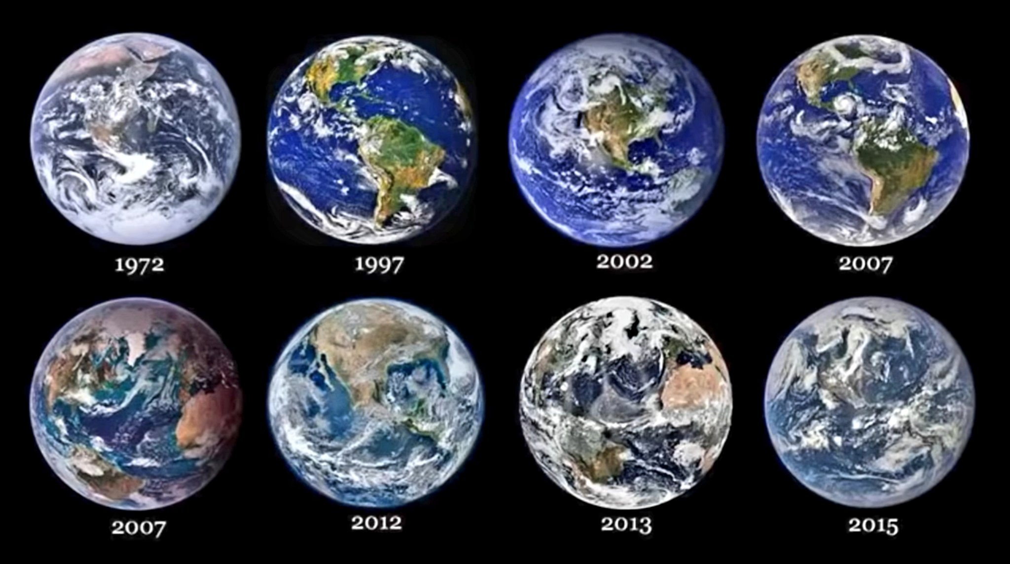 Our beautiful planet over the years. Thank you NASA. - meme