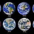 Our beautiful planet over the years. Thank you NASA.