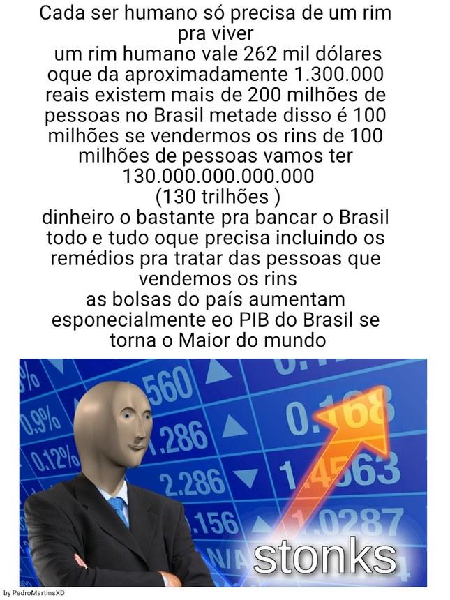 Agora o Brasil vai pra frente - meme