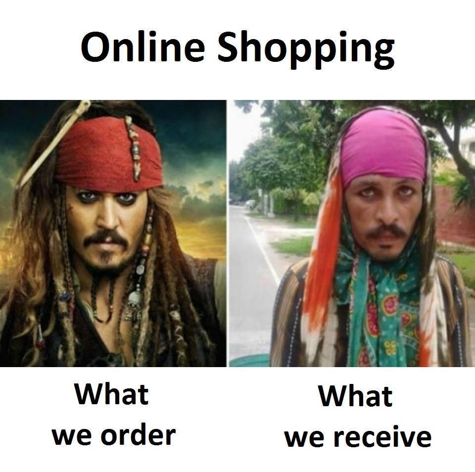 Online shopping - meme