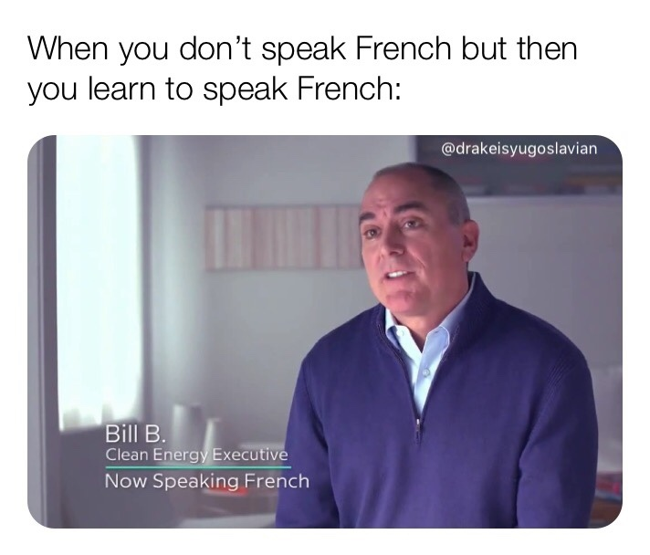 now speaking french - meme