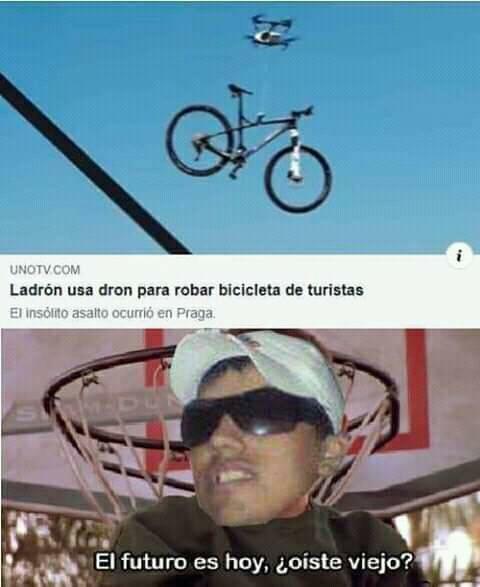 Con esa bici me hago alto guiso - meme