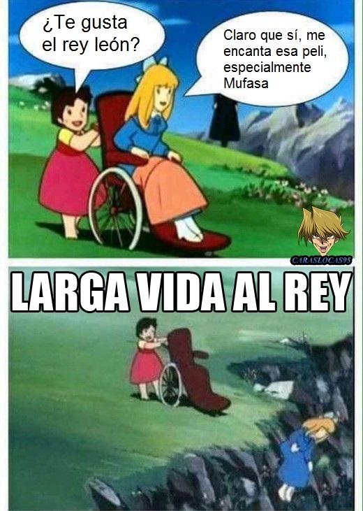 Muerte a lo Mufasa - meme