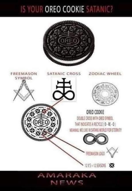 Oreo = Satan's Cookies  - meme