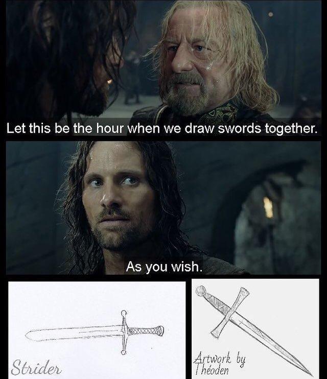 Theoden got mad hand skills - meme