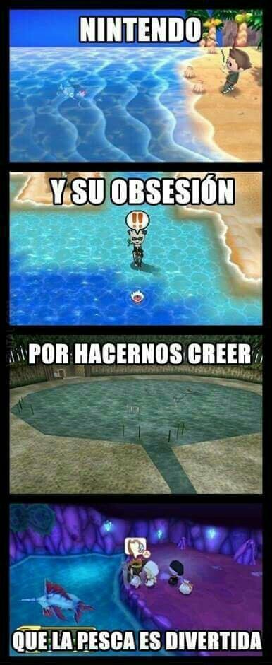 A Nintendo le gusta pescar - meme