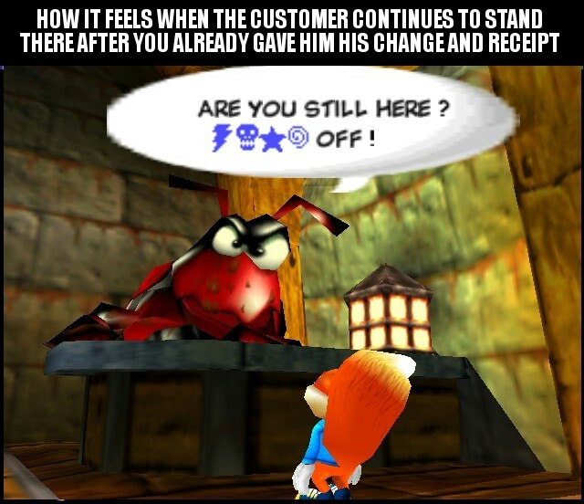 Retail life - meme