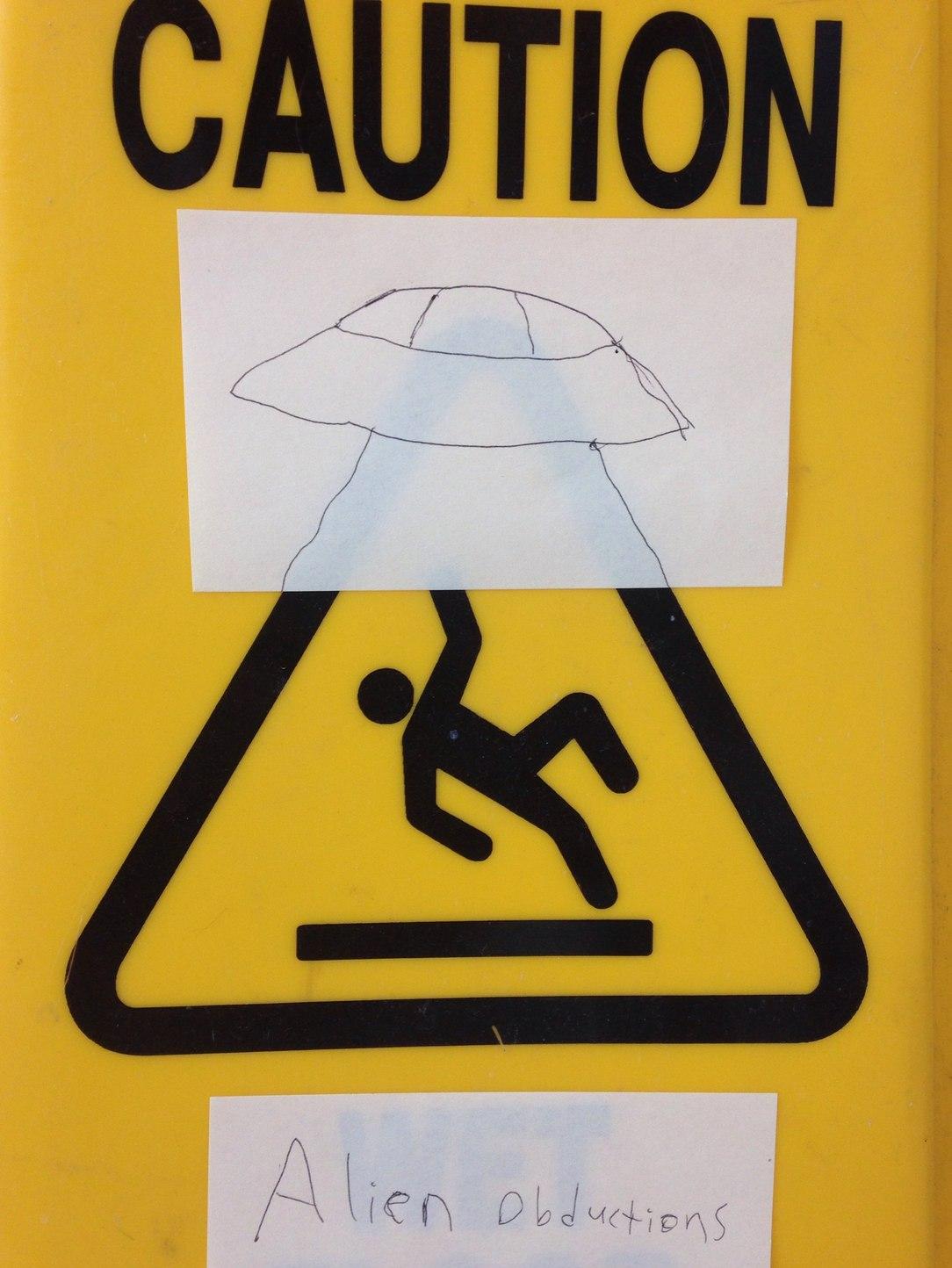 caution, alien obduction - meme