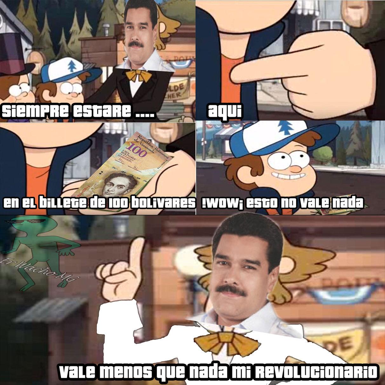 Meme de Venezuela con apoyo de willywtf