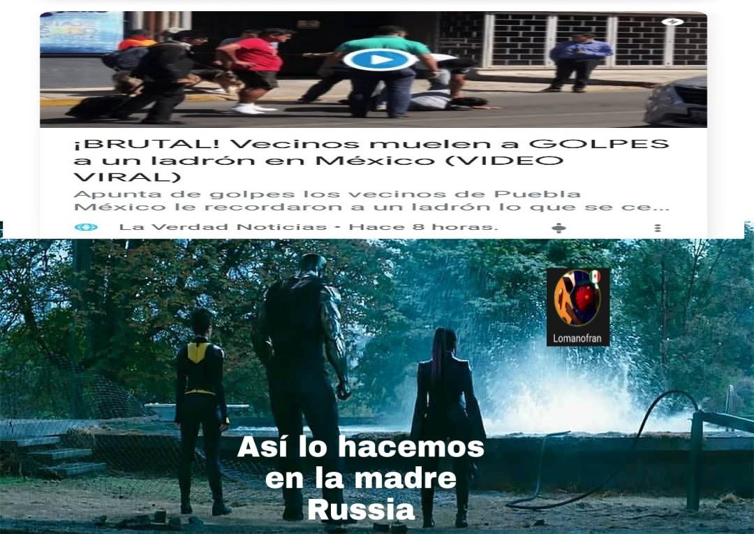 Perdonen si la noticia es de México pero puse así lo hacemos en la madre Russia - meme