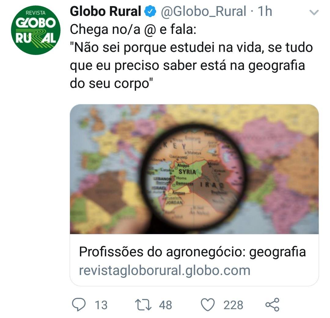 Cantadas Globo rural - meme
