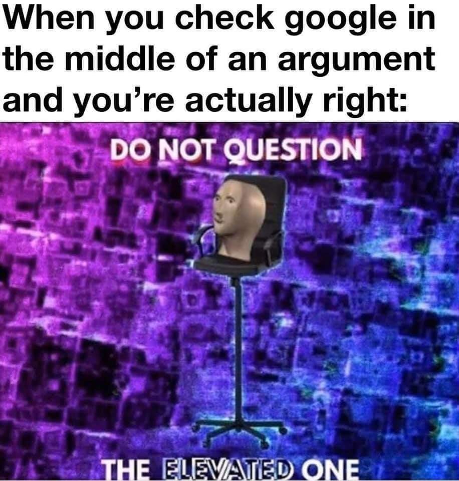 Intellectual superiority - meme