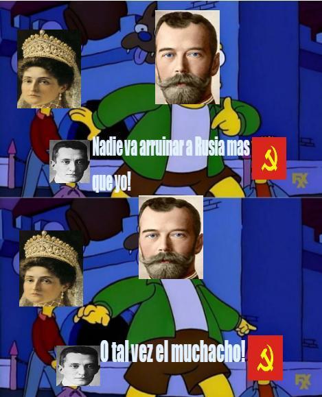 Si no saben quien es de la foto, es el zar Nicolas II - meme