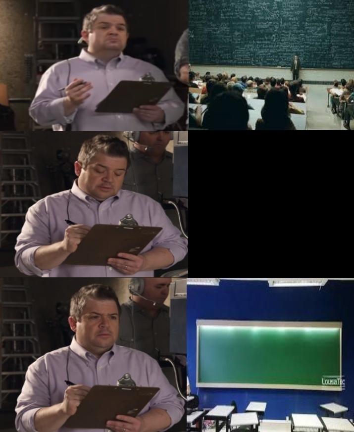Como são as escolas - meme