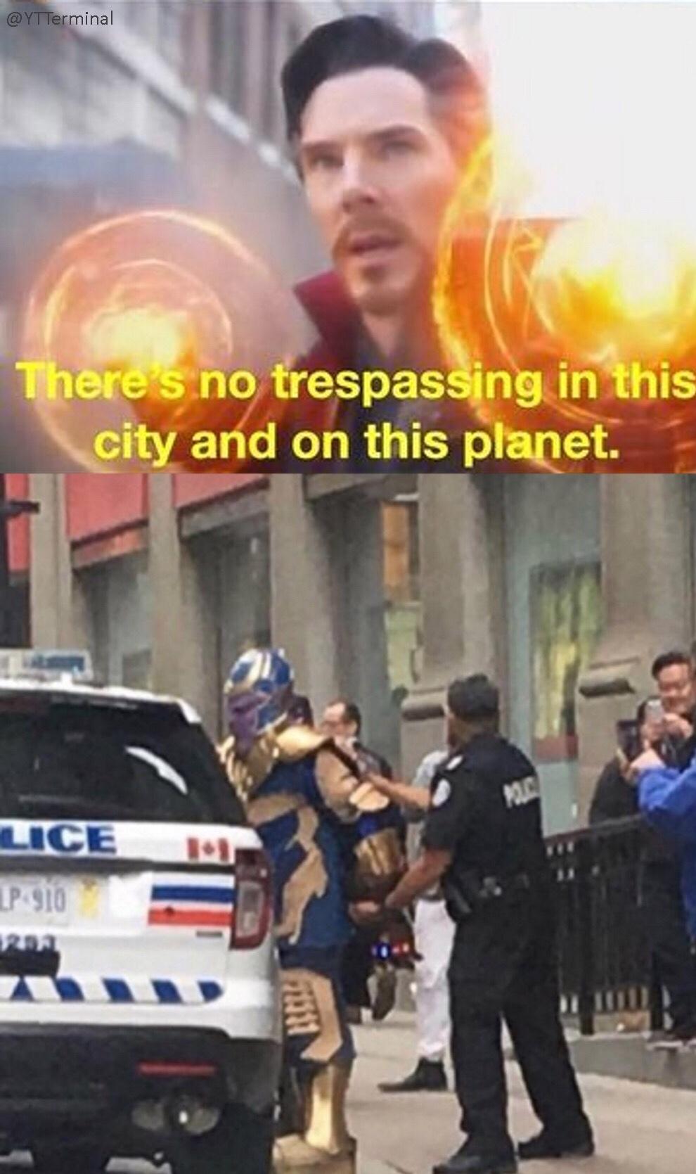 thanos is in FORTNITE - meme