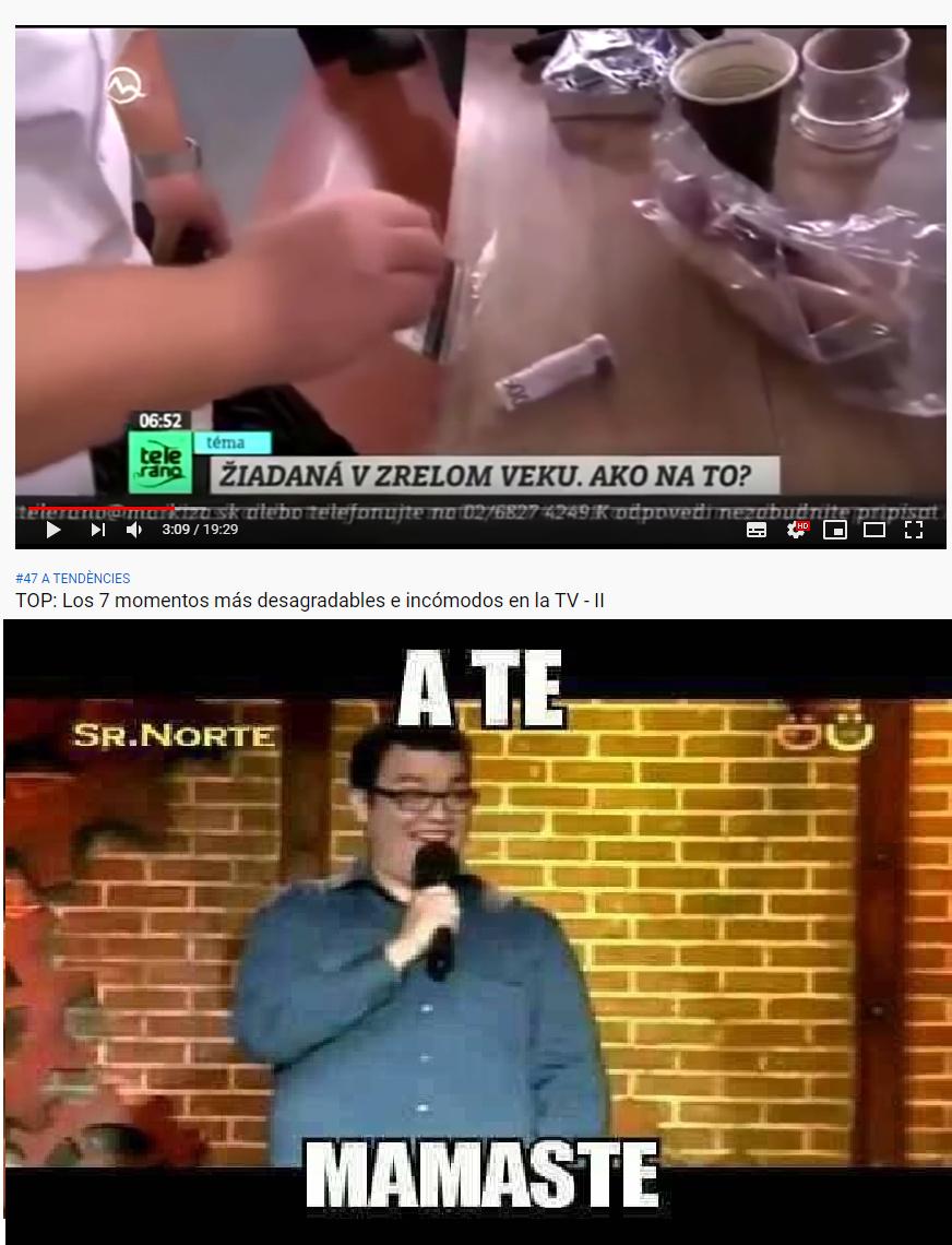 cuando te pillan snifeando en la television - meme