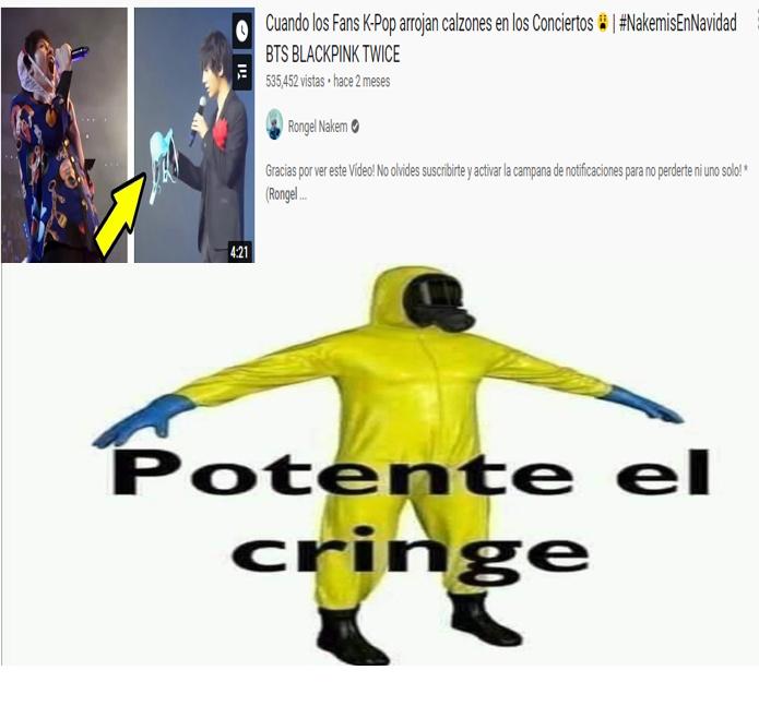 POR FAVOR, NO VAYAN AL CANAL DE RONGEL NAKEM QUE ESTA LLENO DE PURO CRINGE - meme